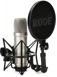 Rode NT1A condenser microphone for recording podcast audio