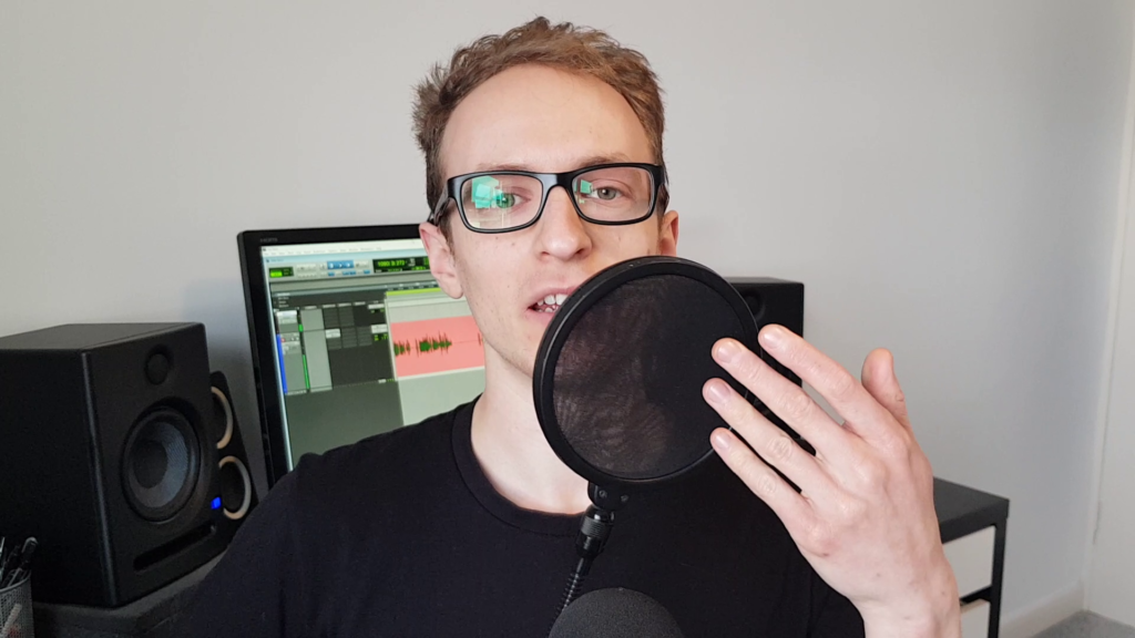 pop filter for recording podcast audio